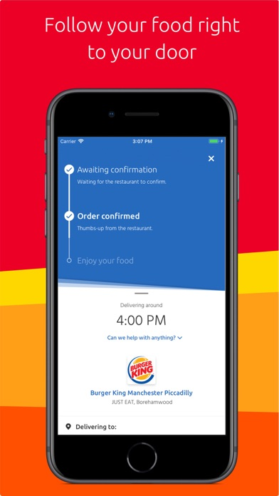 Screenshot for Just Eat: food delivery in United Kingdom App Store