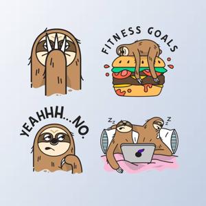 SlothMoji - Sloth Stickers - Stickers app