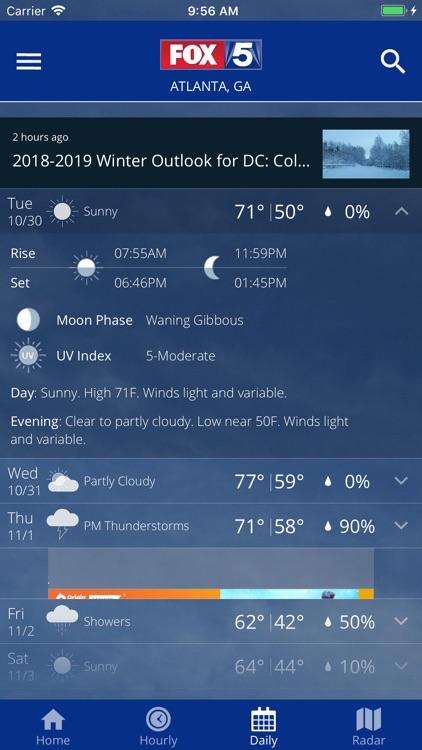 FOX 5 Washington DC: Weather screenshot-3