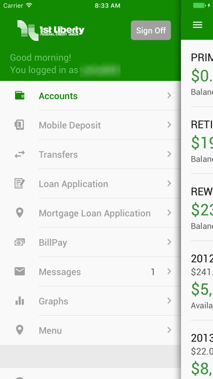 1st Liberty FCU Mobile Banking screenshot-3