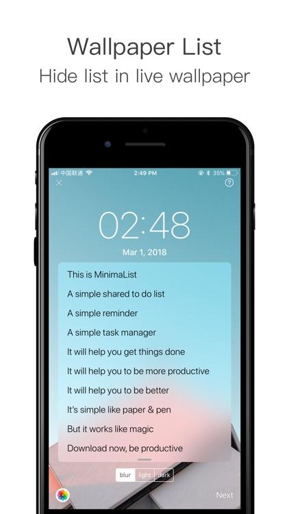 MinimaList - To Do List Tasks screenshot-8