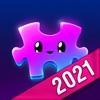 Pink Jigsaw Puzzles - 生きているパズルアイコン