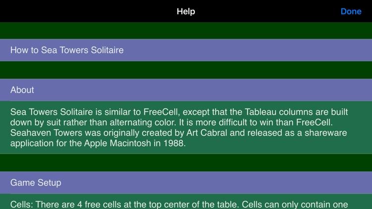 Sea Towers Solitaire Game screenshot-7
