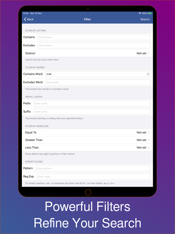 Anagram Solver - Word Finder and Crossword Solver screenshot