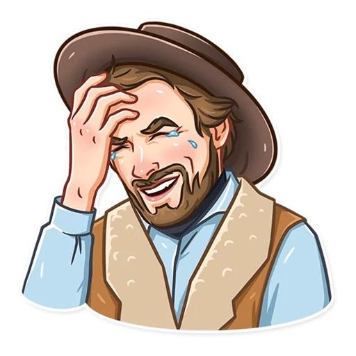 Cowboy Emoji Funny Stickers