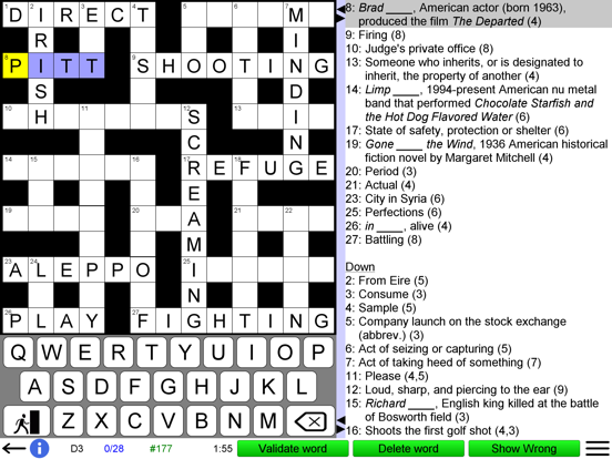 Crossword Unlimited screenshot