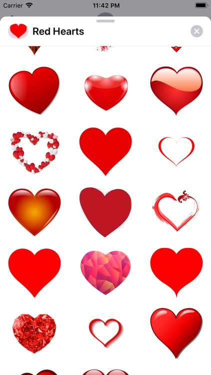 Red Heart Shaped Stickers