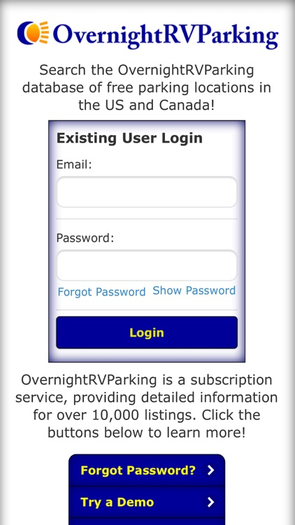 Overnight RV Parking screenshot-4