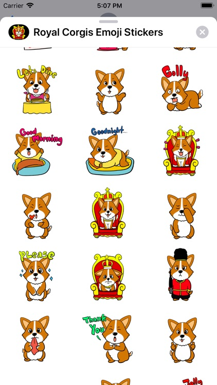 Royal Corgis Emoji Stickers screenshot-1