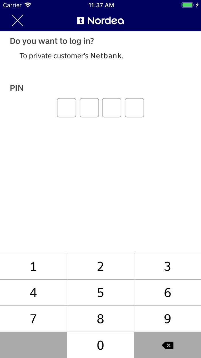 Nordea Codes Screenshot