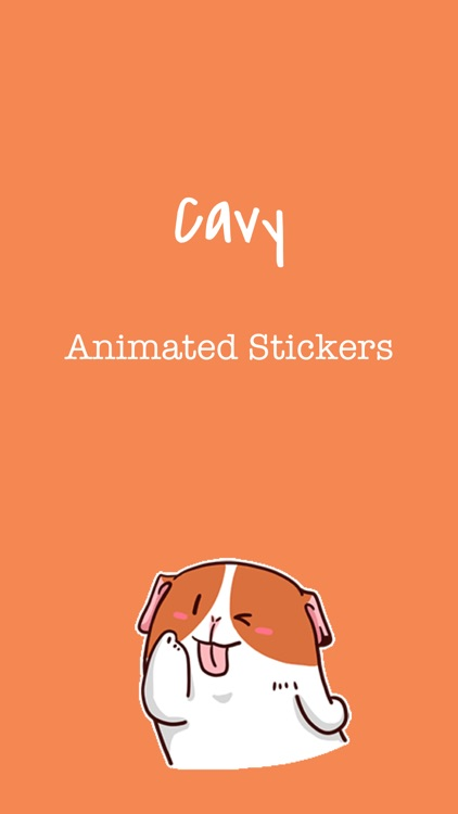 Lovely Cavy Animated Stickers screenshot-0