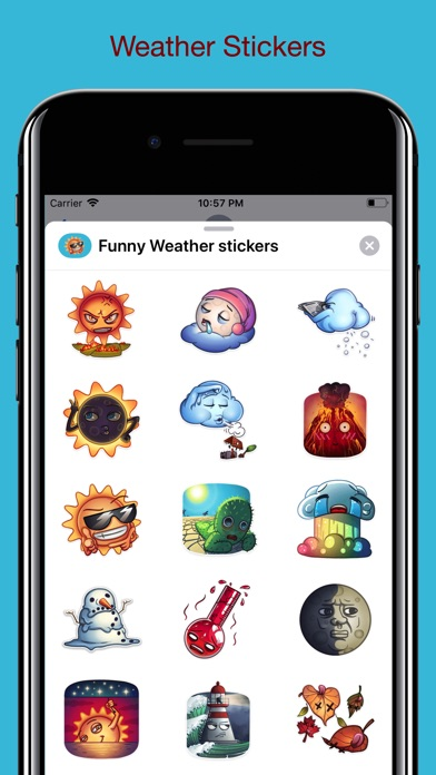 Cute Weather - Funny Stickers screenshot 1
