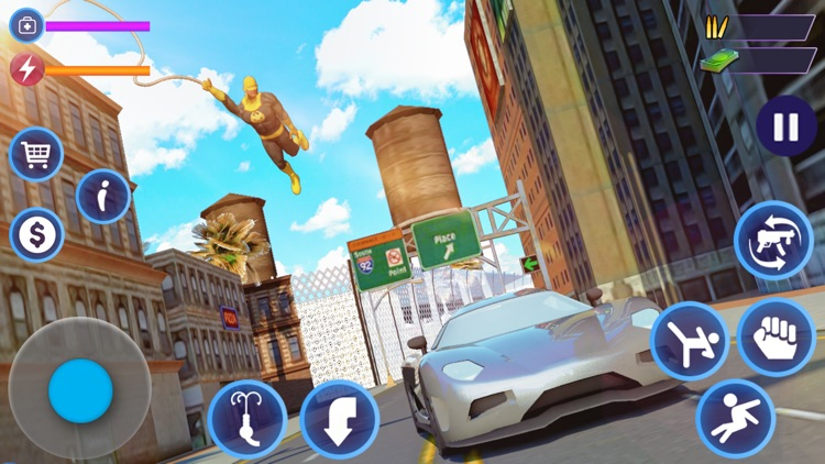 Flying Rope Hero Man Fight screenshot-4