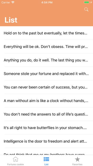 Fortune cookie Screenshots