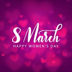 Women's Day Wish Stickers Emo