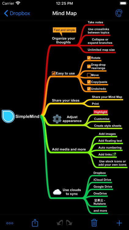SimpleMind Pro - Mind Mapping screenshot-4