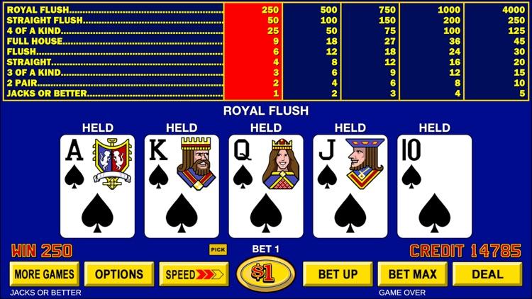 Video Poker - Classic Games screenshot-4