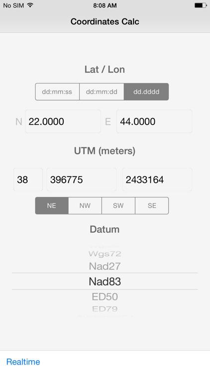 B4i - Coordinates Calculator