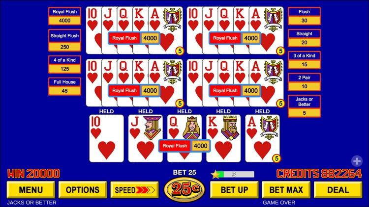 Video Poker - Classic Games screenshot-3