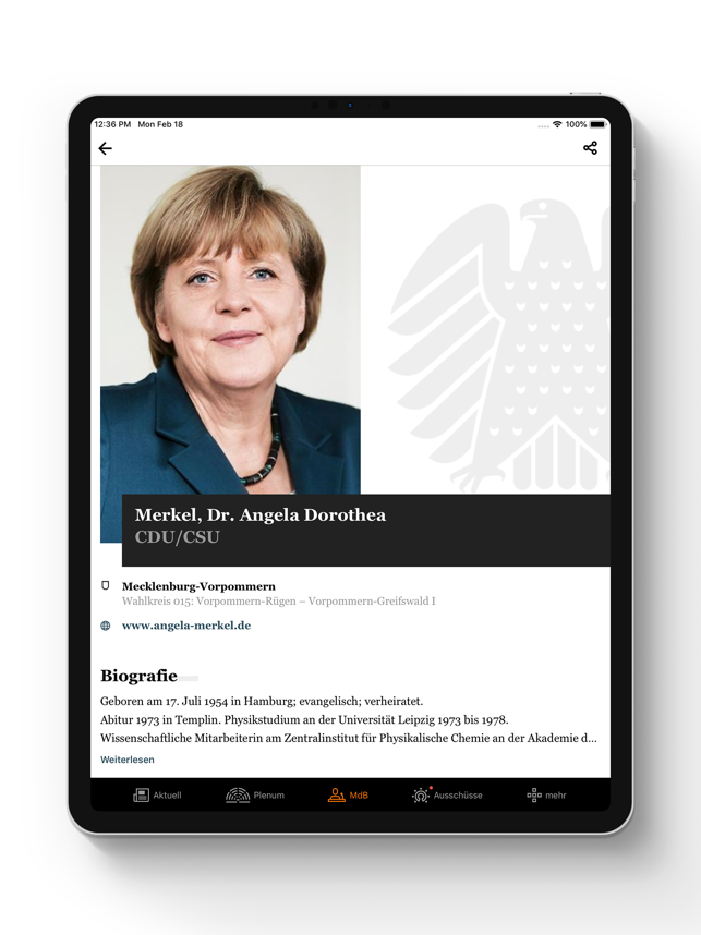 ?Deutscher Bundestag Screenshot