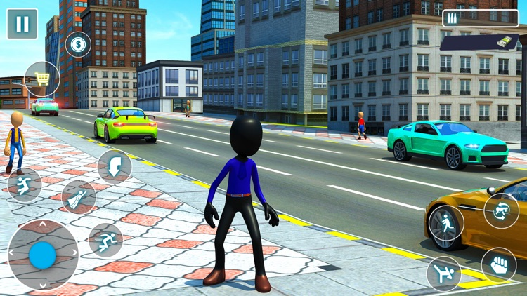 Stickman Rope Hero City screenshot-3