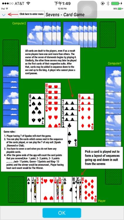 Classic card game - Sevens screenshot-3
