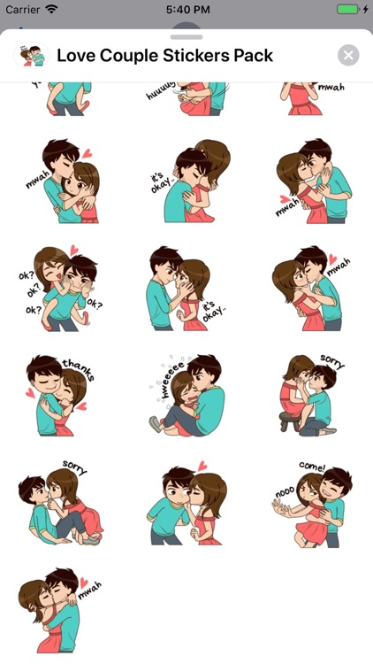 Love Couple Stickers Pack