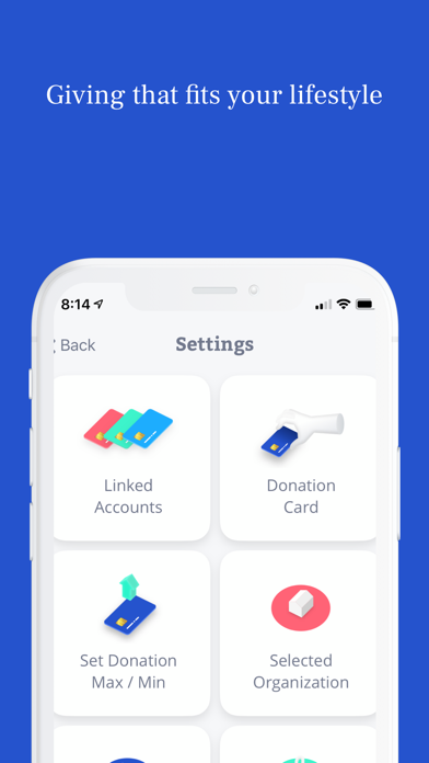 RoundUp App: Donate Change screenshot