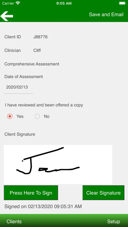 Therapist Forms screenshot-3