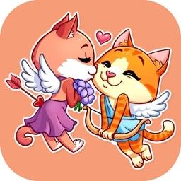 Love Cat Stickers Pack