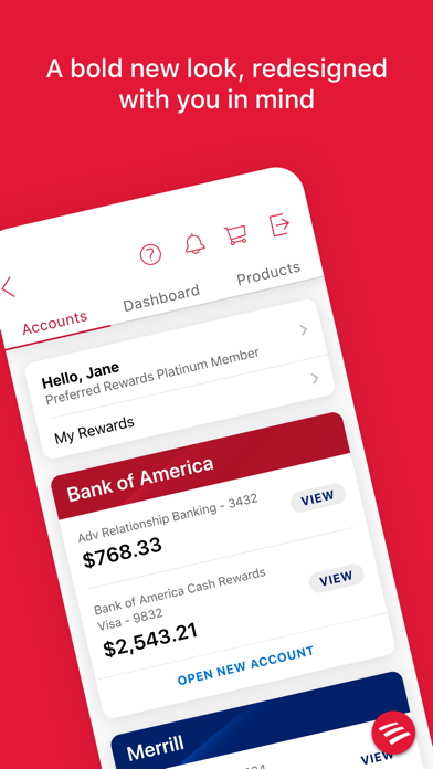 messages.download Bank of America Mobile Banking software