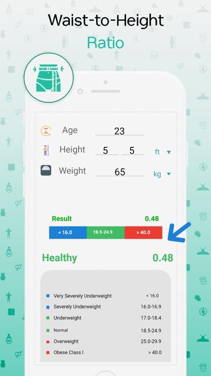 BMI, BMR & Body Fat Calculator screenshot-7
