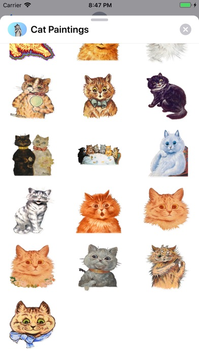 Screenshot for Cat Paintings - Cat Drawings in Belgium App Store