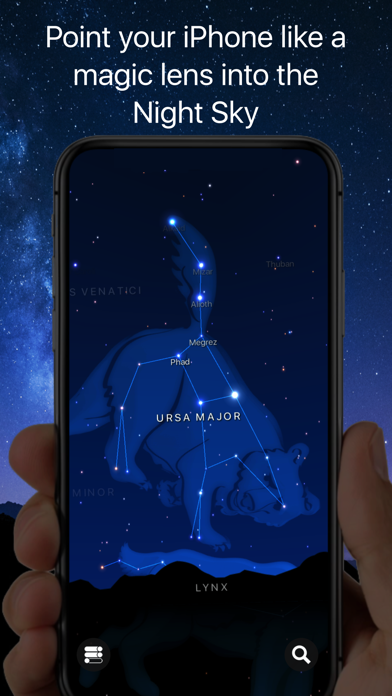 Starlight : Carte du ciel
