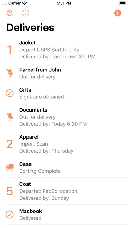 Parcel - Delivery Tracking screenshot-0