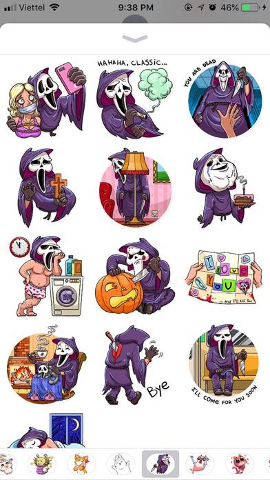 Halloween Death Funny Stickers screenshot 1