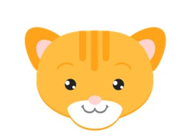 Baby Lion Delighted Sticker