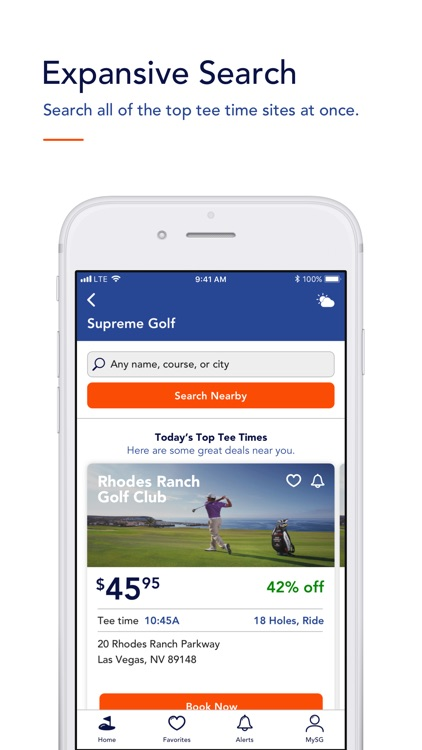 Supreme Golf: Search Tee Times