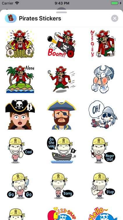 Pirates Emoji Stickers screenshot-4