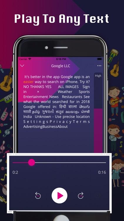 Text to Speech - Music Player