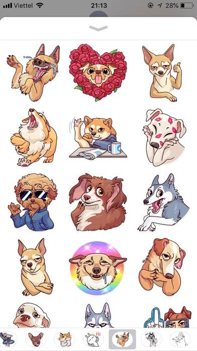 Dog Cute Pun Funny Stickers screenshot 1