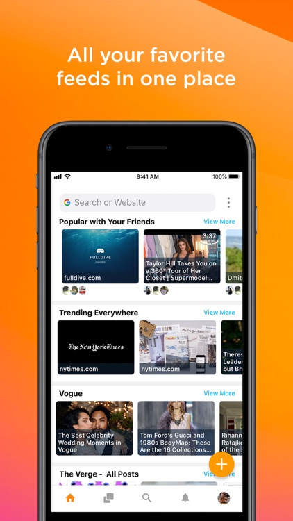 Evry Browser: All in one feed