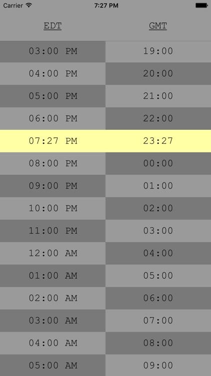 TimeTable - UTC/Time Zone Tool screenshot-3