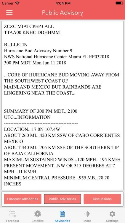 National Hurricane Center Data screenshot-7