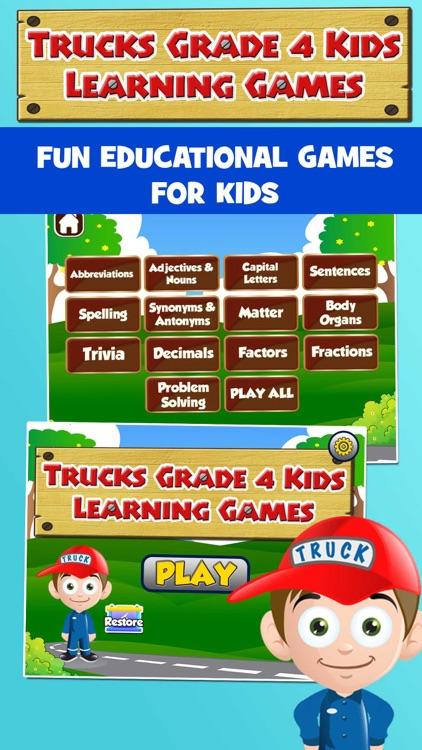 Kids Trucks Fourth Grade Games