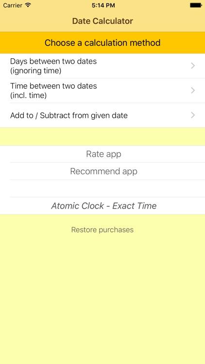 The Date Calculator PRO screenshot-0