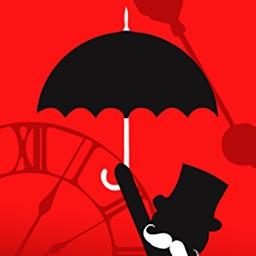 Man Falling Down-Open Umbrella