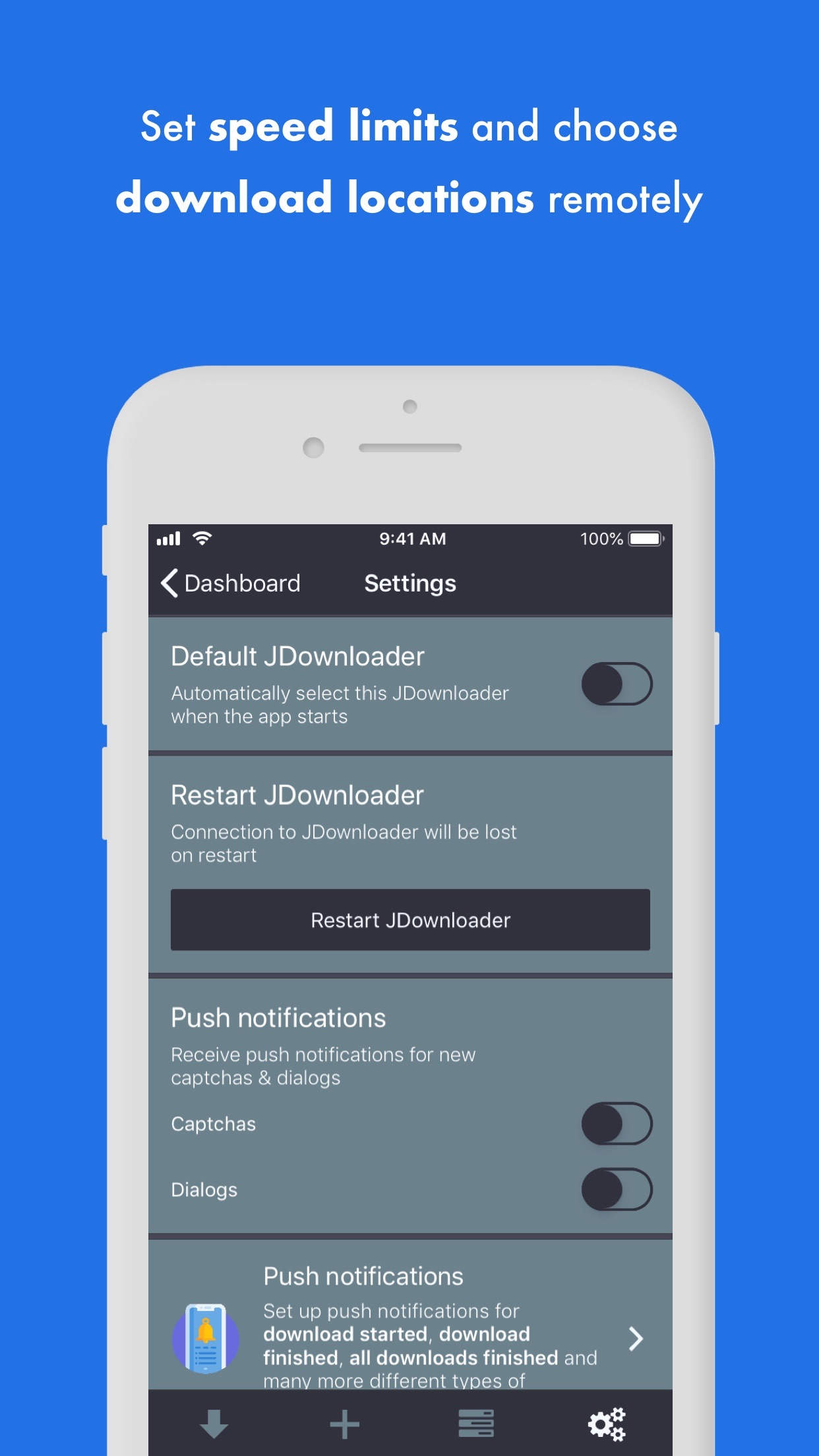 MyJDownloader Remote Screenshot