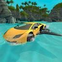 Car Water Surfing Float Race