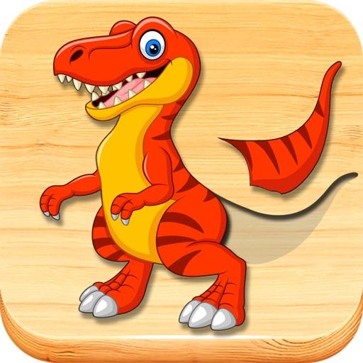 Динозавры, пазлы для детей 3-5